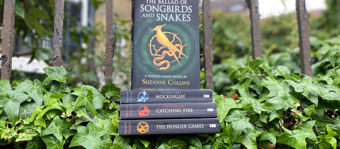 The Ballad Of Songbirds And Snakes with The Hunger Games Trilogy books